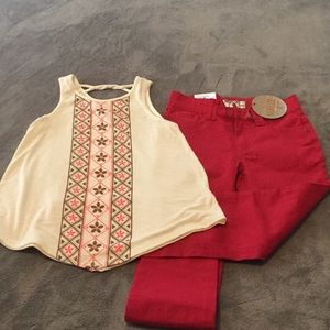 Tank and jeans kids size 7